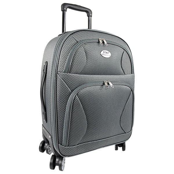 maleta gris
