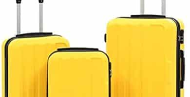 maletas de viaje amarillas