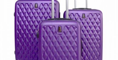 maletas de viaje moradas
